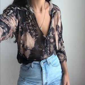 Diane von Furstenberg silk buttoned blouse 10